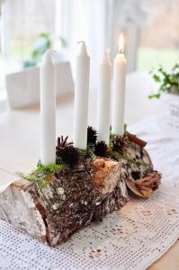 Addobbi natalizi fai da te con le candele