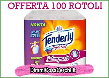 100 rotoli di cartaigenica Tenderly Triplesoft