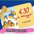 L'Occitane, fino a 30€ di sconto in omaggio