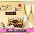 Premio certo Ferrero: 2 bicchieri Flute