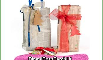 Regali di Natale con carta riciclata dai giornali
