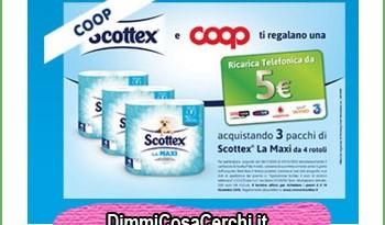 Ricarica telefonica omaggio con Scottex e Coop