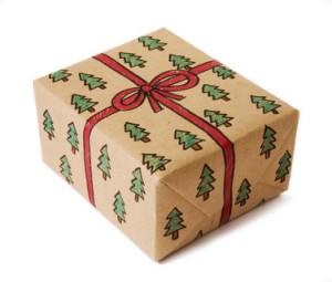 paquet cadeau en kraft