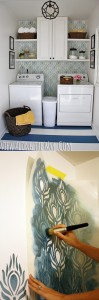 Pareti decorate con la tecnica dello stencil