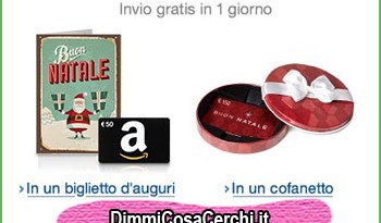 Buoni regalo Amazon per Natale