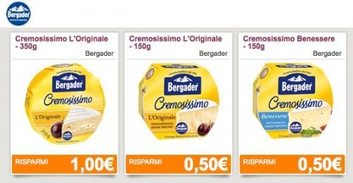 Buoni sconto Bergader formaggio