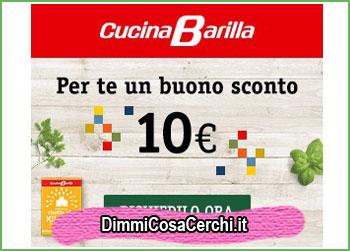 Cucina Barilla, buono sconto 10