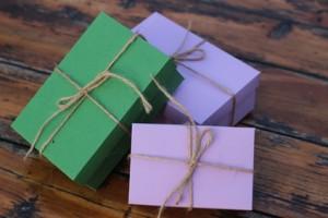 scatola regalo in cartone fai da te