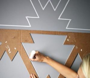 stencil con cartone