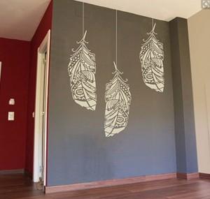 Pareti con stencil come tinteggiare con la tecnica dello - Stencil per parete ...