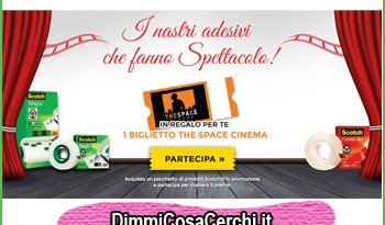 Biglietto The Space Cinema omaggio con Scotch