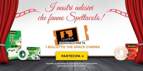 Biglietto The Space Cinema omaggio con Scotch