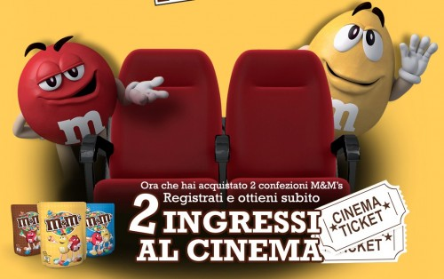 Ingressi cinema omaggio con M&M's