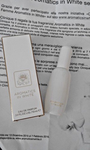 profumo clinique aromatics white omaggio
