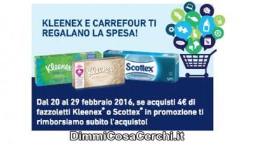 Buono spesa Carrefour in regalo con Kleenex