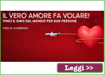 Concorso Alitalia, vinci il giro del mondo con True love is flying