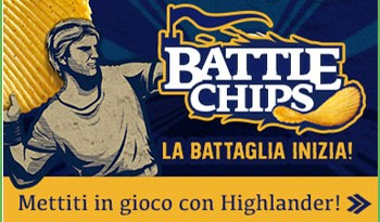 Concorso Battle Chips Highlander, vinci ricariche, buoni spesa e magliette!