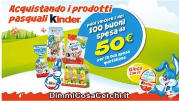 Prodotti pasquali Kinder, vinci buoni spesa da 50€