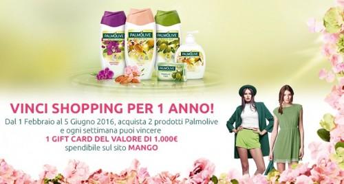 Vinci shopping per 1 anno con concorso Palmolive
