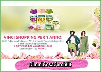 Vinci shopping per 1 anno con Palmolive