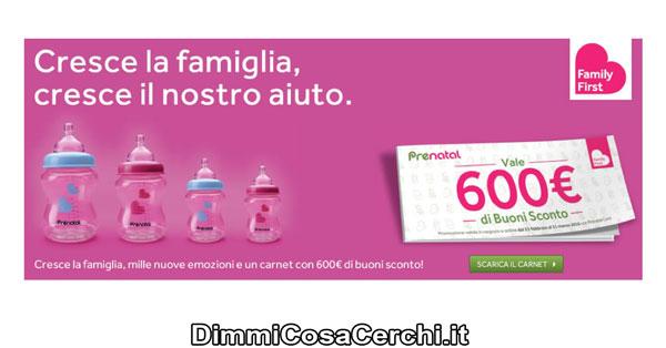 Buoni sconto Prenatal (online e in negozio)