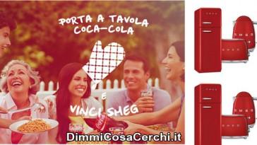 Concorso Coca-Cola, vinci frigoriferi Smeg e bollitori