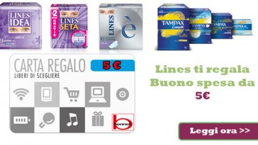 Bennet card in regalo con Lines