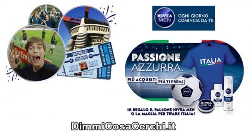 Passione Azzurra Nivea men, pallone in omaggio + concorso