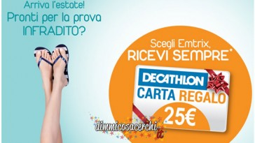 Carta regalo Decathlon omaggio con You Derm