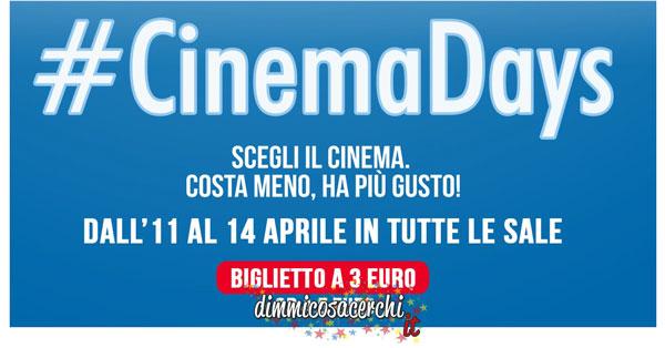 Cinema a prezzo scontato con #cinemadays