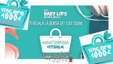 Concorso Baby Lips, vinci borsa sogni
