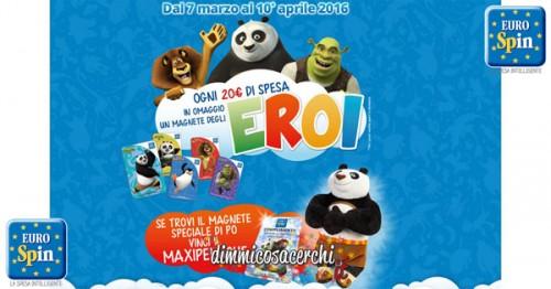 Concorso Eurospin, vinci il maxi peluche Po di Kung Fu Panda