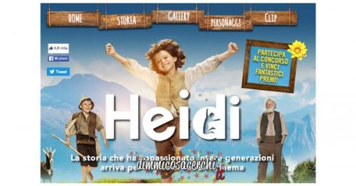Concorso Heidi il Film, partecipa vinci giochi e gadgets