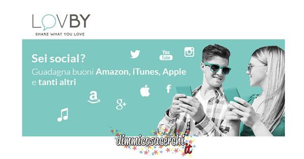 Guadagnare buoni Amazon ed altri con Lovby
