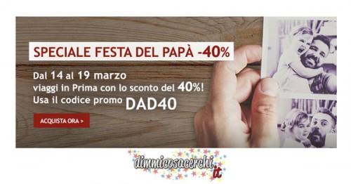 Italo Treno, Festa del Papà con il codice sconto