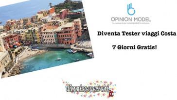 Opinion Model, diventa tester viaggi Costa