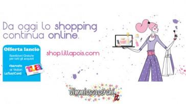 Shop Lillapois, spedizione gratuita per festeggiare