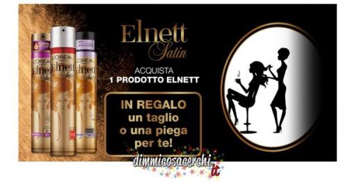 Taglio capelli o piega omaggio con Elnett