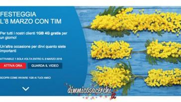 Tim ti regala 1 Giga gratis per la festa della donna
