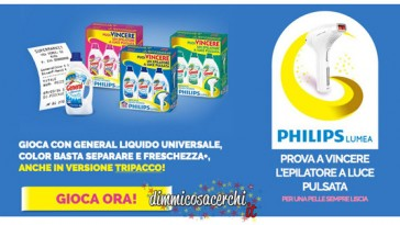 Vinci epilatori a luce pulsata Philips con General