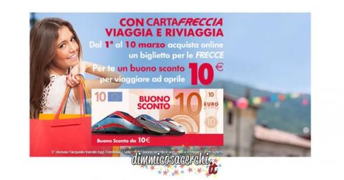 Buoni sconto Trenitalia: 10€ in omaggio per te!