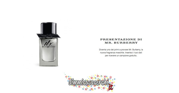 Campione omaggio profumo Mr. Burberry