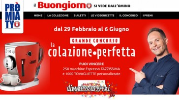 Concorso Premiaty Colazione perfetta, vinci Bialetti