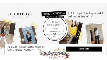 Concorso Promod, vinci 2.100 euro in buoni shopping