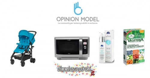 Opinion Model, 4 nuovi prodotti da testare gratis