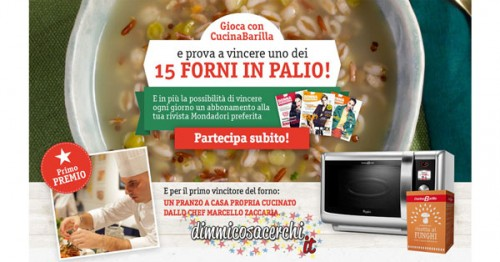 Vinci forni cucina Barilla e abbonamento riviste
