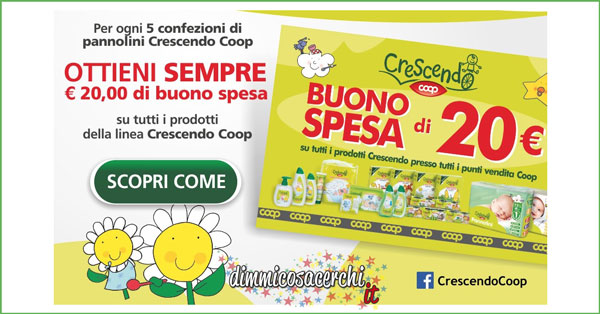 Buoni sconto Crescendo Coop (premio sicuro)