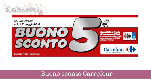 Buono sconto Carrefour