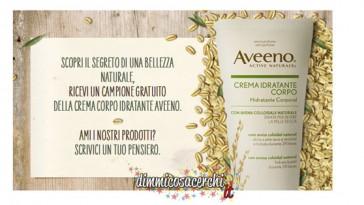Campione omaggio Aveeno crema corpo