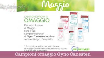 Campioni omaggio Gyno Canesten